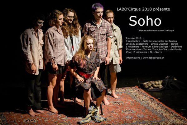 Spectacle Soho/Labo'cirque à Renens, le 8 septembre